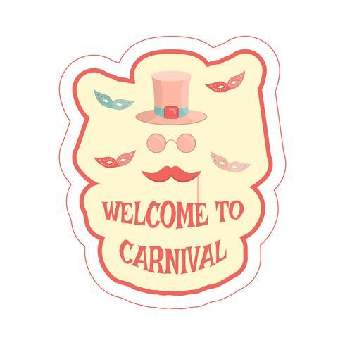 carnaval maskers sticker vector