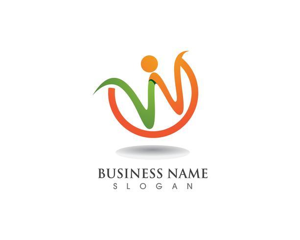W logo bedrijfslogo en symbolen vector