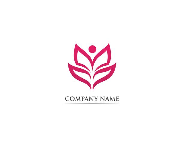 Blad lotus natuur logo vectorillustratie vector