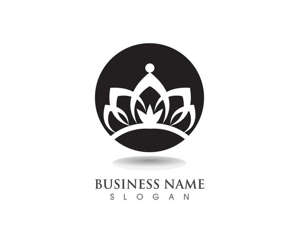 Kroon logo sjabloon vectorillustraties vector