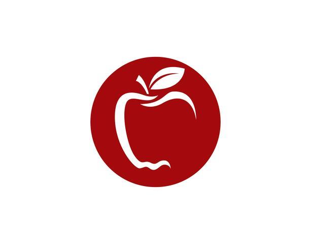 Apple vector illustratie ontwerp pictogram logo sjabloon Vector