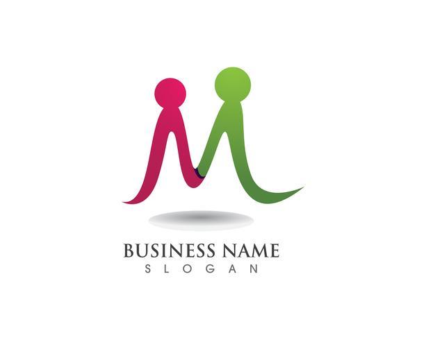 Adoptie familie logo en symbool vector