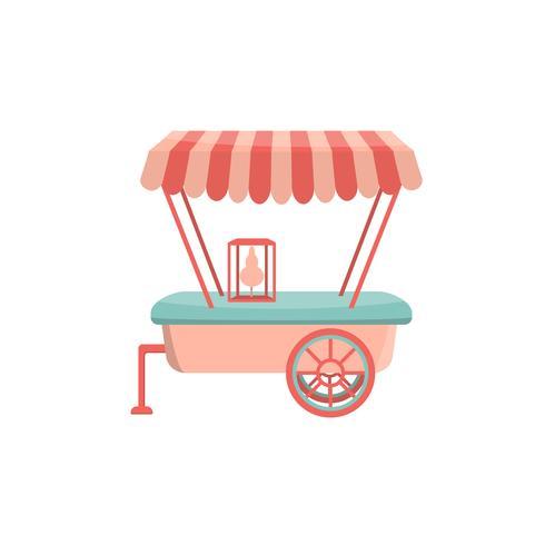 Straat café auto aanhangwagen pictogram. vector