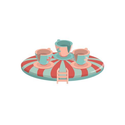slingerende cups pictogram vector