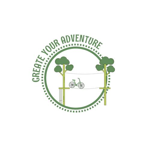 Adventure touwparkzegel vector