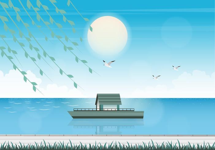 Vector zomertijd illustratie