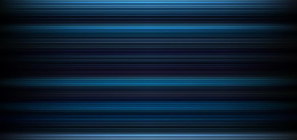 Abstracte donkerblauwe achtergrond met horizontaal licht en lijnenpatroonbehang. vector