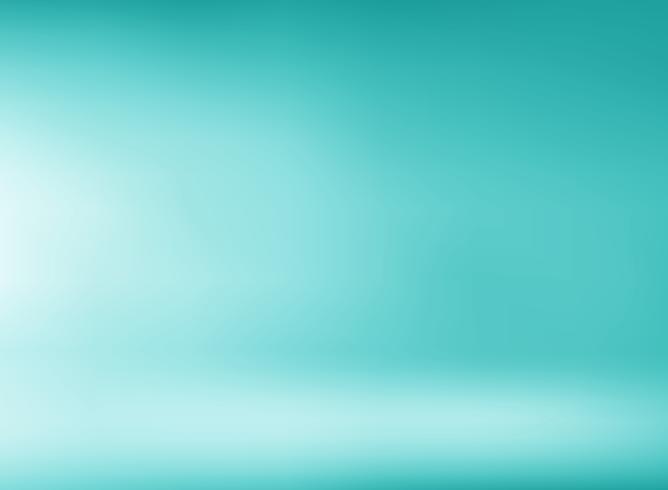 Groene mintachtergrond van de studiokamer met zachte verlichting. U kunt gebruiken voor ontwerp afdrukken, brochure, poster, banner, website, presentatie. vector