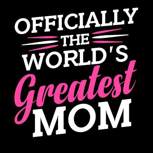 Officieel 's werelds grootste moeder vector