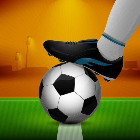 Voetbal en schoenplaten vector
