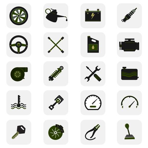 Autoservice pictogrammen vector