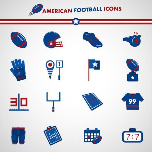Amerikaanse voetbal pictogrammen vector
