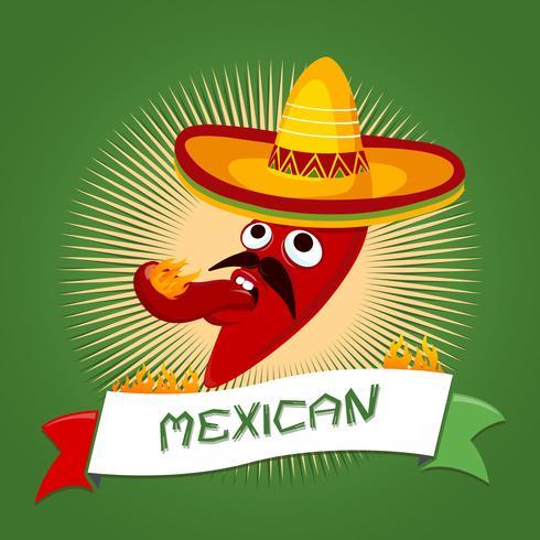 Mexicaanse chili Cartoon vector