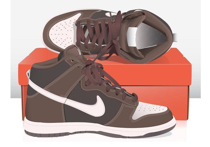 Nike basketschoenen vector