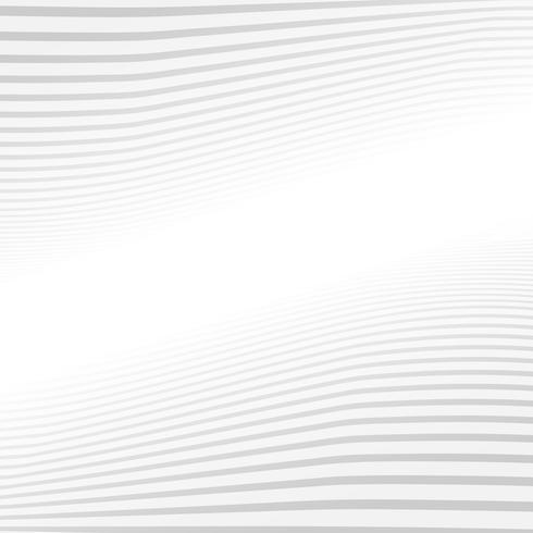 Het abstracte grijze patroon van de lijnengolf op witte textuur als achtergrond. vector