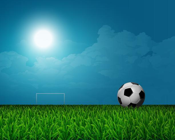 Groene voetbal veld achtergrond vector