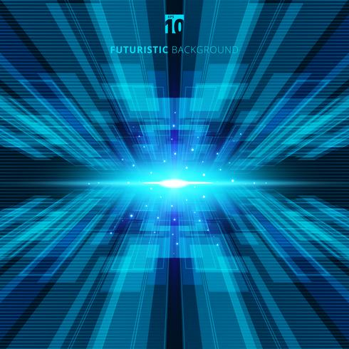 De abstracte blauwe virtuele futuristische digitale achtergrond van het technologieconcept met ruimte voor uw tekst vector