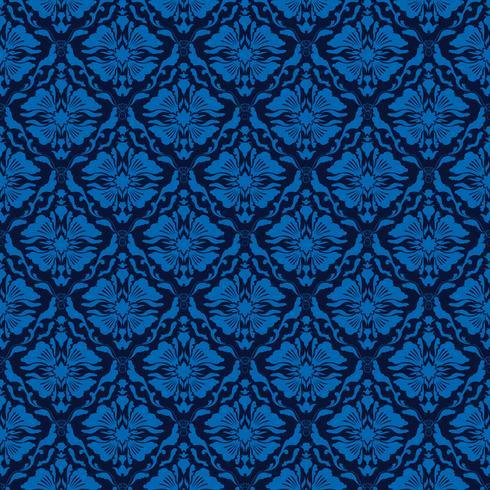 elegante blauwe naadloze damastachtergrond vector