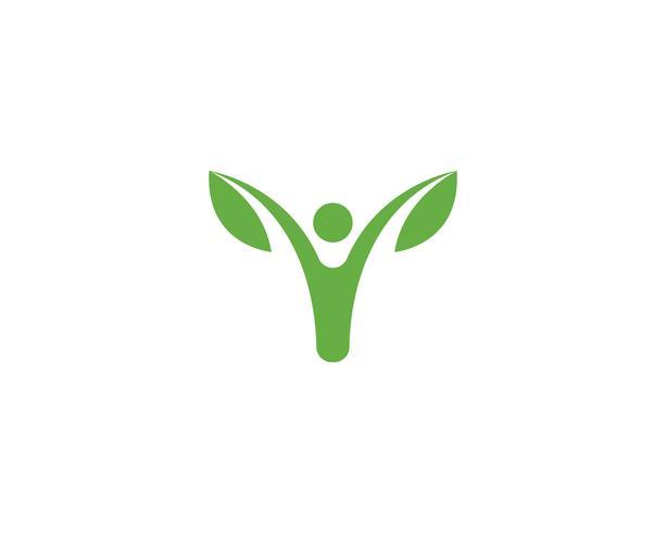 groene blad ecologie natuur element vector