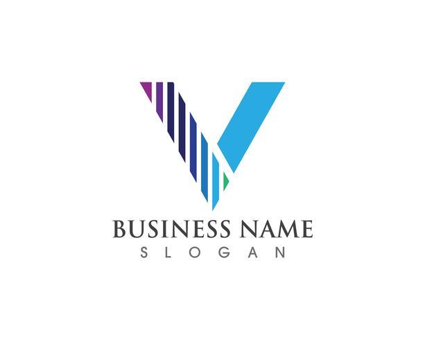 V-logo en symbool vector sjabloonpictogram