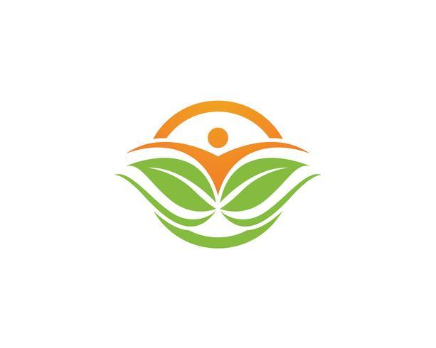 Gezondheid leven logo en symbolen vector