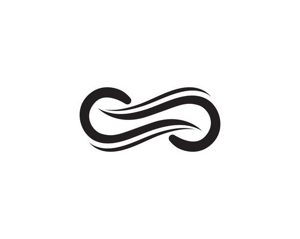 oneindigheid logo en symbool sjabloon iconen vector