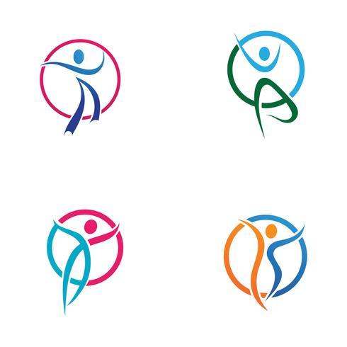 Menselijk karakter logo teken vector