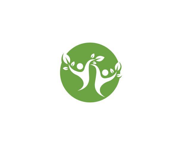 Gezond leven Logo sjabloon vector