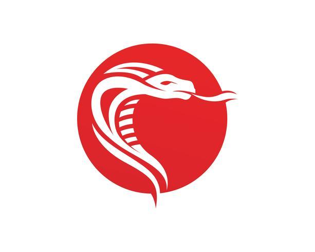 adder slang logo ontwerpelement. gevaar slang pictogram. adder-symbool vector