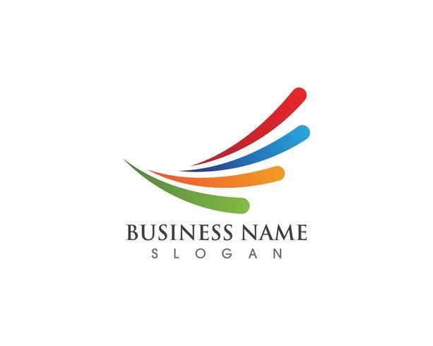 Financieel logo bedrijf vector