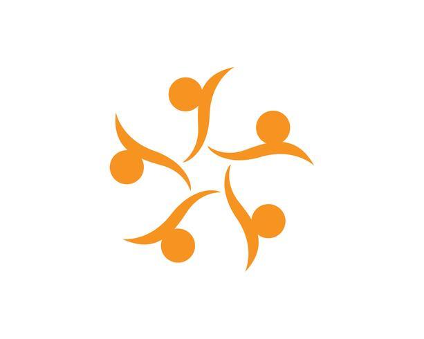 Star community people group logo en symbolen vector