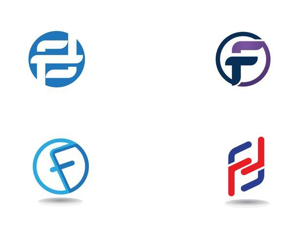 F logo zakelijke symbolen vector sjabloon brief