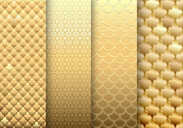 set van gouden texturen achtergronden vector