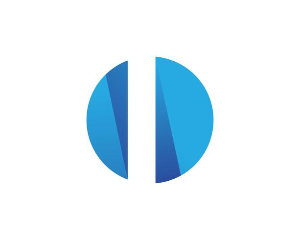 Zakelijke financiën logo en symbolen app sjabloon vector