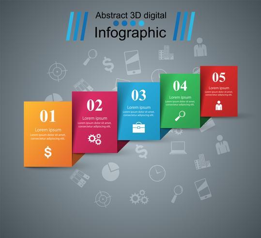 Abstracte 3D digitale afbeelding Infographic. vector