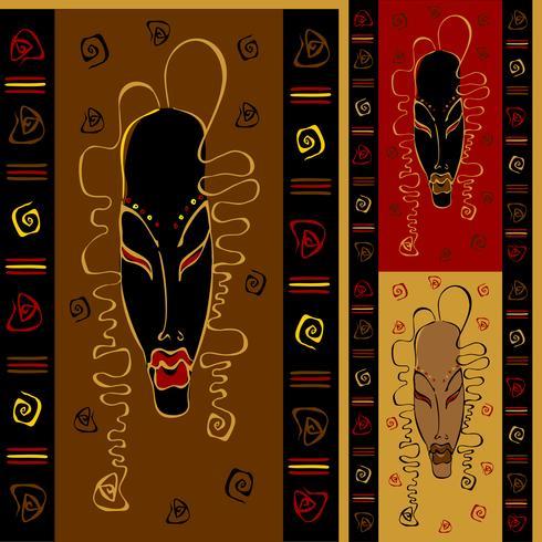 Naadloos patroon met stammen Afrikaanse maskers. Etnische versiering. Vector. vector