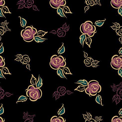 Naadloos patroon. Bloemenprint. Roses. Decoratief. Vector