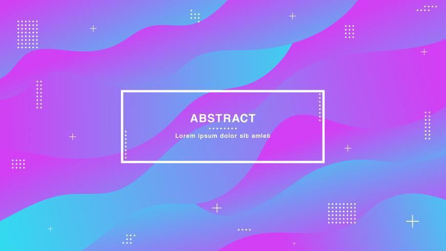 Moderne kleuren, geometrische achtergrond met trendy gradiëntsamenstelling en eenvoudige vormen vector