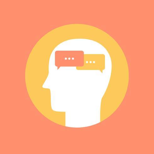 Menselijk meningspictogram, communicatie concepten vlakke stijl vector