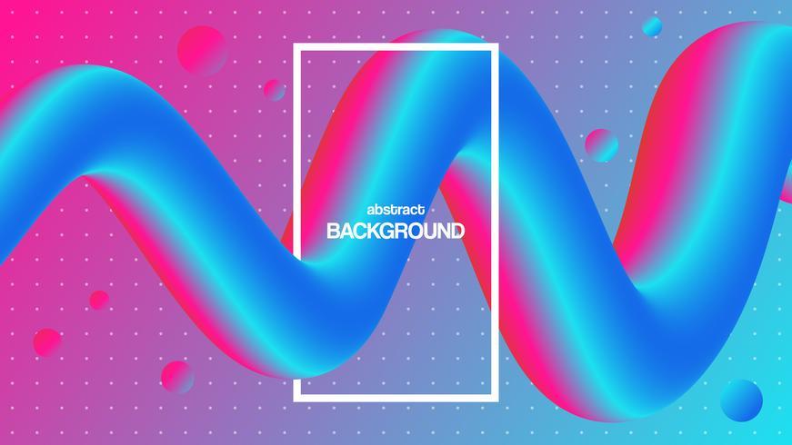 3d kleurrijke vloeibare vorm. Abstracte achtergrond met levendige gradiënt. Futuristische ontwerpaffiche vector