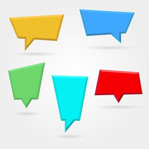 Vectorreeks, inzameling van bellen van de kleuren de lege plastic toespraak vector