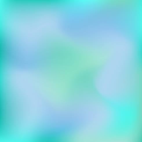 Vector wazig abstracte achtergrond in blauwe en groene kleuren