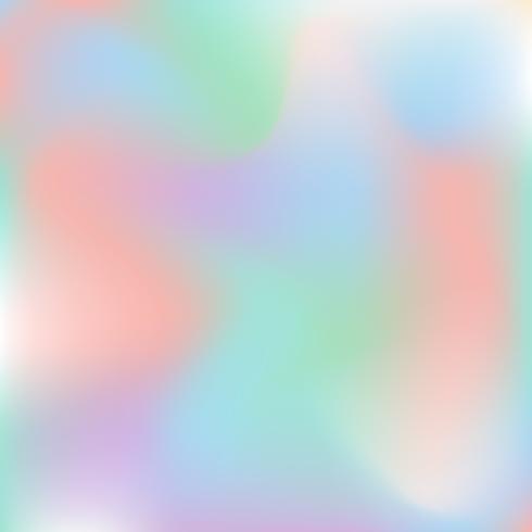 Vector holografische abstracte achtergrondpastelkleuren