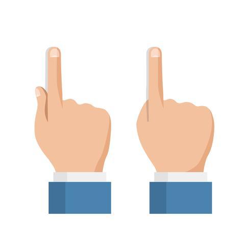 Set van handpictogrammen, touchscreen vinger vector