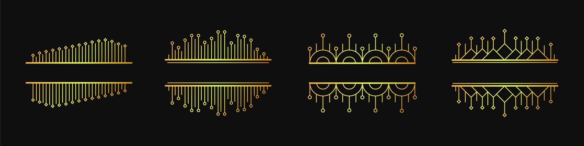 Set van eenvoudige elegante vector geometrische lineaire banners