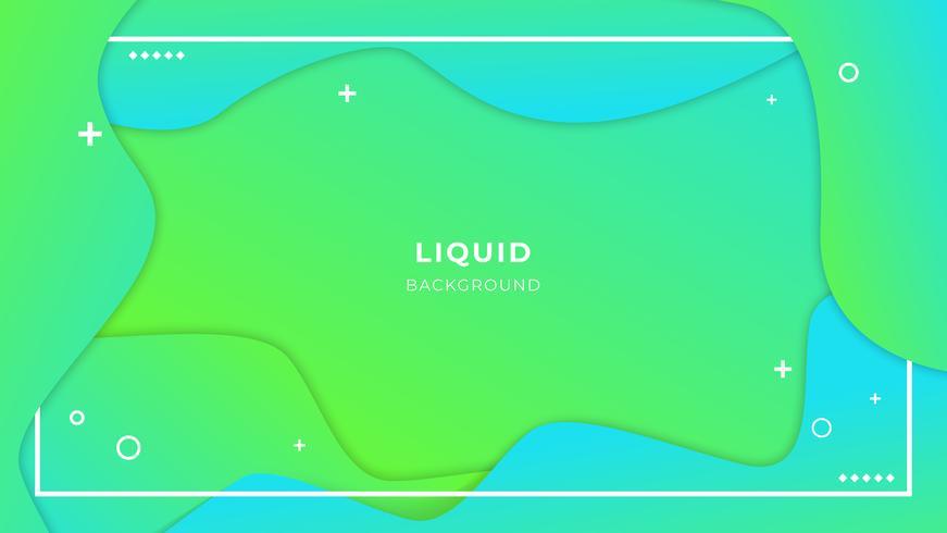 Abstracte vloeibare achtergrond met eenvoudige vormen met trendy gradiëntsamenstelling vector