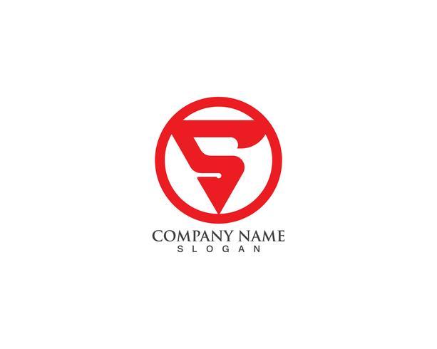 S-logo vector sjablonen