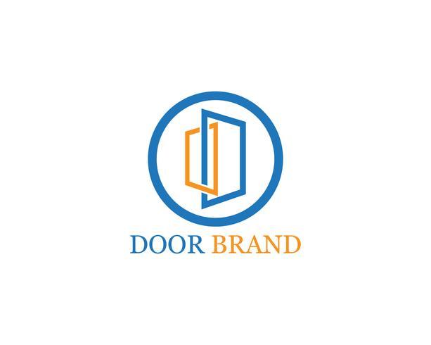 deur logo vector sjabloon illustratie