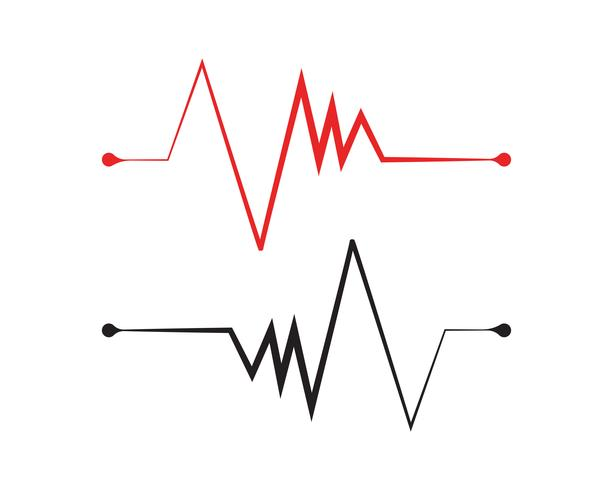 Hartslag lijn logo ziekenhuis vector