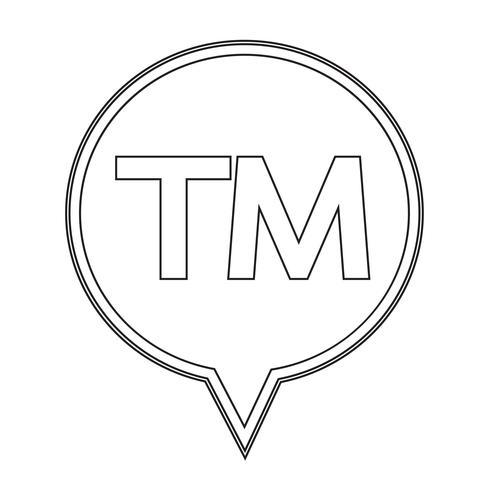 handelsmerk knop symbool teken vector
